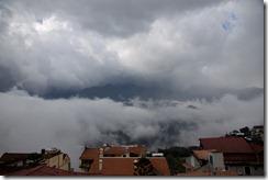 Depuis mon hotel, ca nuage légèrement