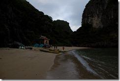La plage camping du premier soir, aussi grande que sur la photo