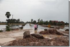 0001 - Route inondée, Route 33, Xa Xia vers Kampot