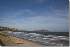 plage deserte immense