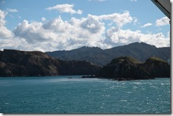 0213 - Vu du ferry, Arrivée Picton, Wellington vers Picton