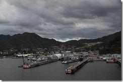 0221 - Vu du ferry, Arrivée Picton, Wellington vers Picton