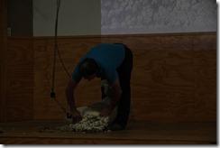 0450 - Tonte d'un mouton, The Wrinkly Ram, Omarama, Mt Cook vers Ranfurly