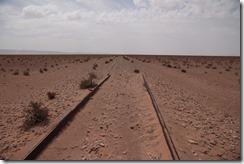 0105 - Voie ferrée abandonnée, Piste, R602, Figuig vers Merzouga