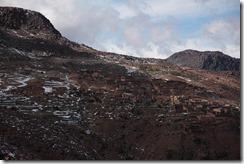 0494 - Village du bout du monde, Bout de la piste, Piste goudronnée, Anzal vers l'ouest, Skoura vers Taliouine