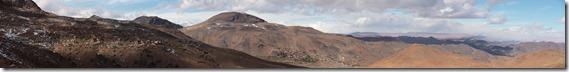 0519 - Panorama3, Village du bout du monde, Bout de la piste, Piste goudronnée, Anzal vers l'ouest, Skoura vers Taliouine_stitch