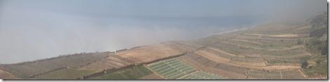 0593 - Panorama, Champs dans le brouillard, Nord Safi, R301, Essaouira vers Casablanca-8 images