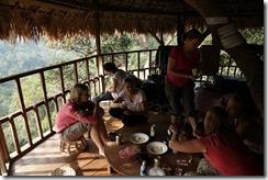 0255 - Houay Xai, Gibbon Experience, Treehouse 7, groupe